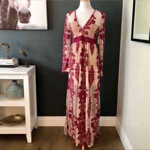 Altar'd State Norrie Embroidered Maxi Dress NWT